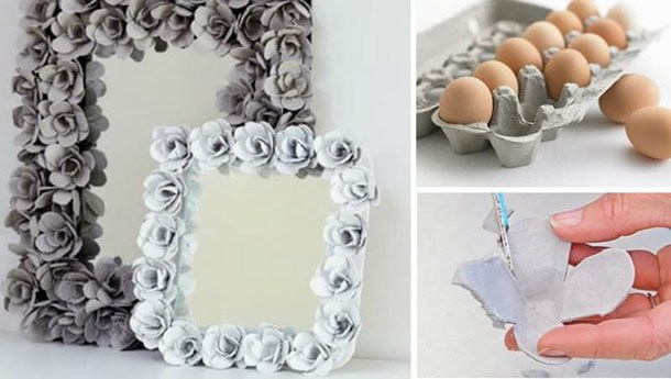 moldura para espelho caixas ovos