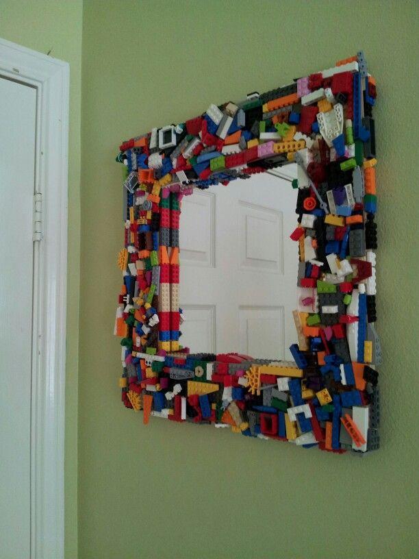 moldura para espelho lego