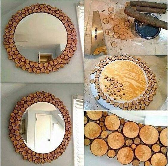 moldura para espelho madeira