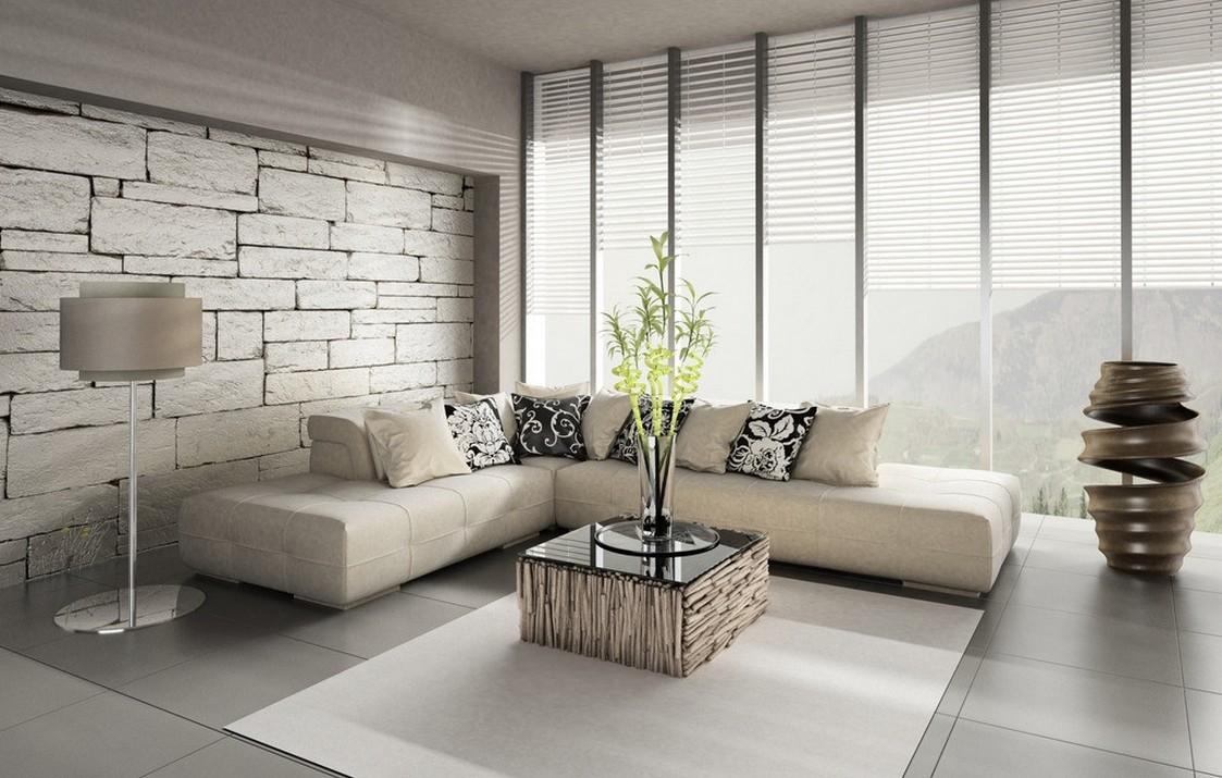 papel de parede a imitar blocos cimento