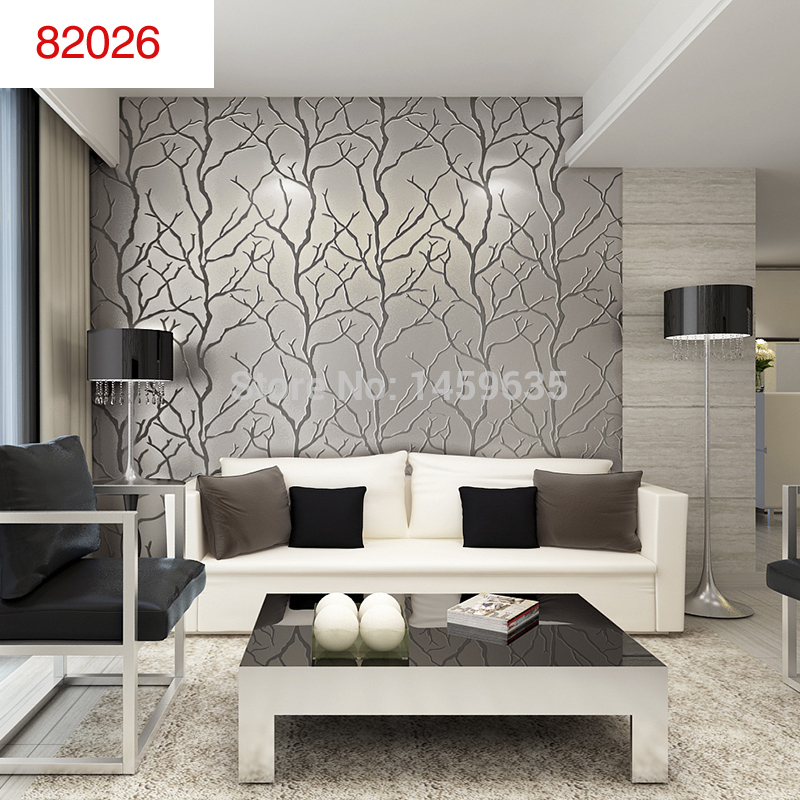Papel de parede para a sala for Silver wallpaper living room