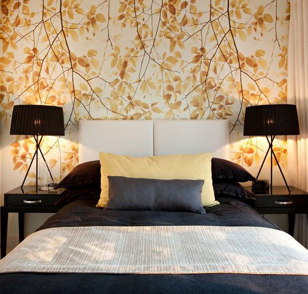 papel de parede flores para quarto