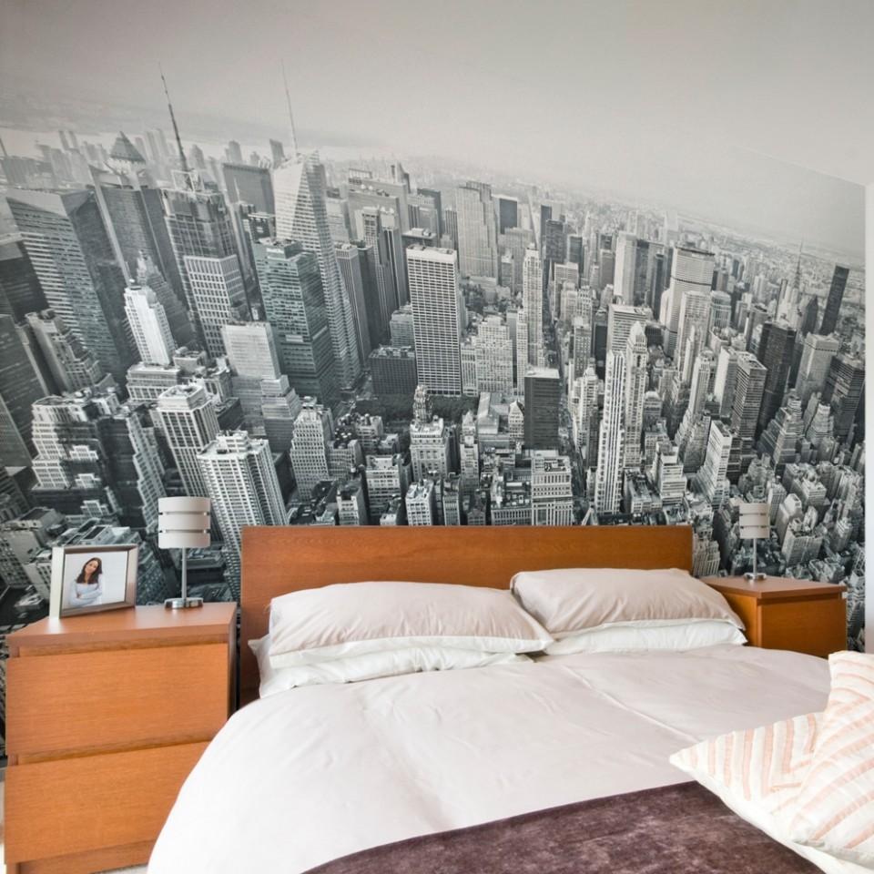 papel de parede new york quarto