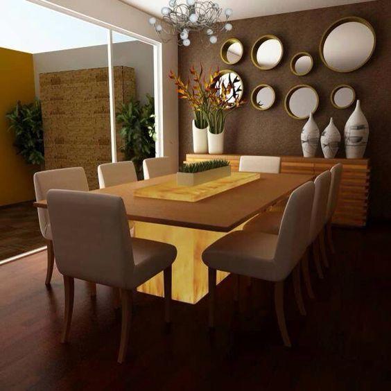 paredes decoradas casa alugada espelhos 1