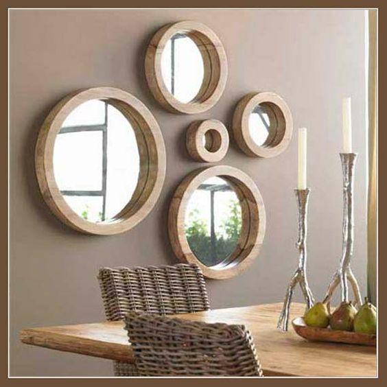 paredes decoradas casa alugada espelhos