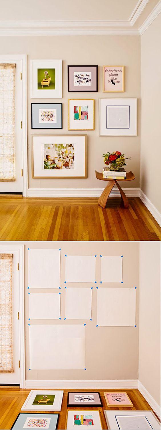 paredes decoradas casa alugada quadros