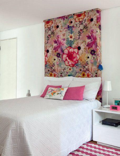 paredes decoradas tecido cabeceira