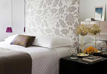 paredes decoradas tecido cinza