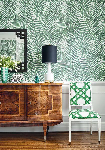 paredes decoradas tecido folha