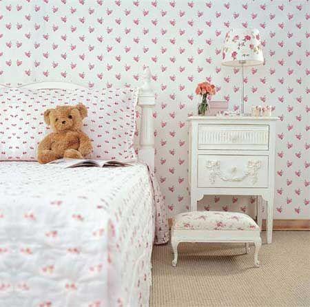 paredes decoradas tecido quarto