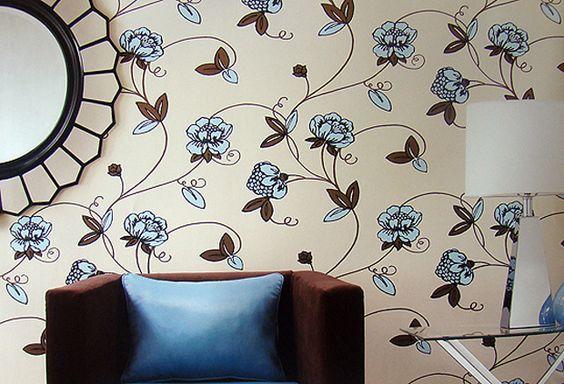 paredes decoradas tecido sala