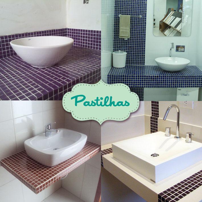 pastilhas na decoracao de banheiros
