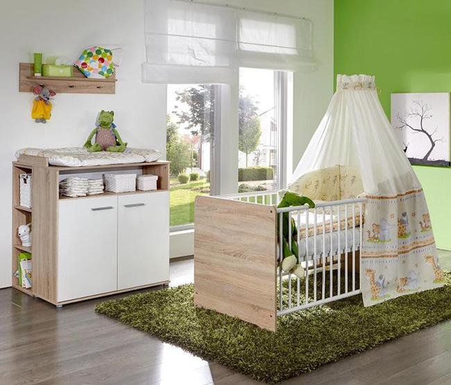 quarto de bebe em verde