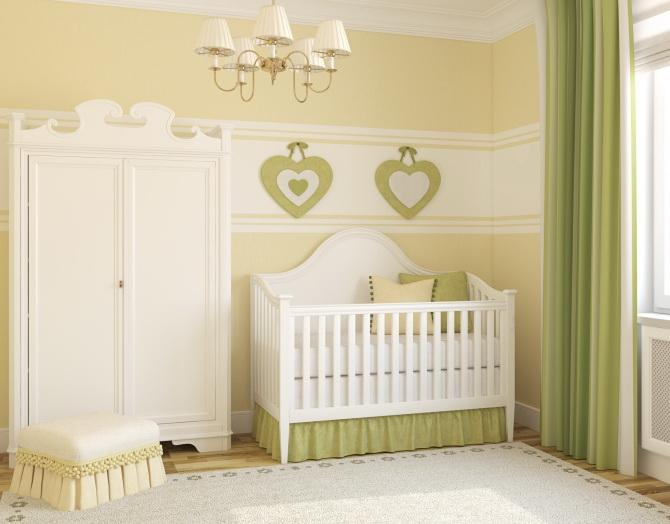 quarto de bebe minimalista