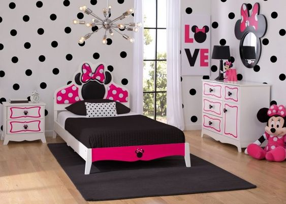 quarto decorado minnie adolescente rosa