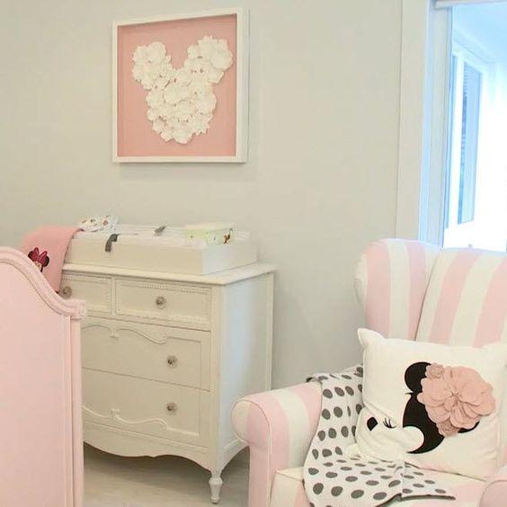 quarto decorado minnie bebe adesivo