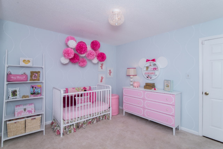 quarto decorado minnie bebe rosa