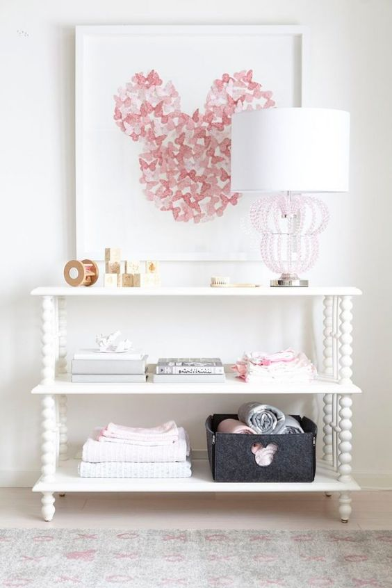 quarto decorado minnie bebe simples