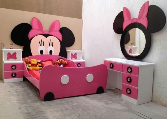 quarto decorado minnie crianca rosa