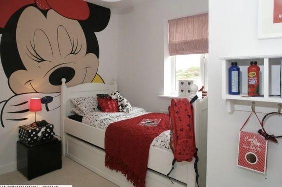 quarto decorado minnie crianca simples