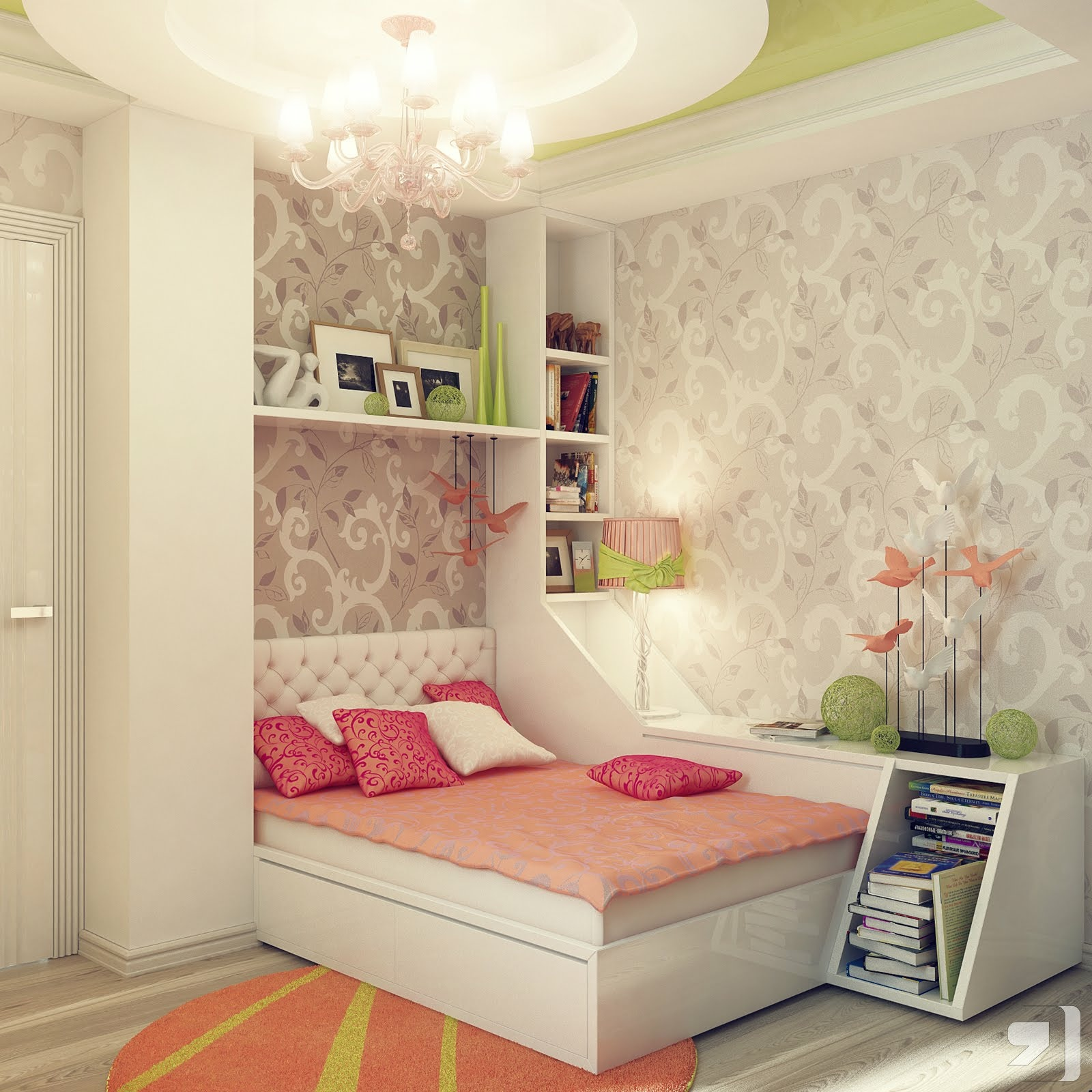 quarto pequeno feminino
