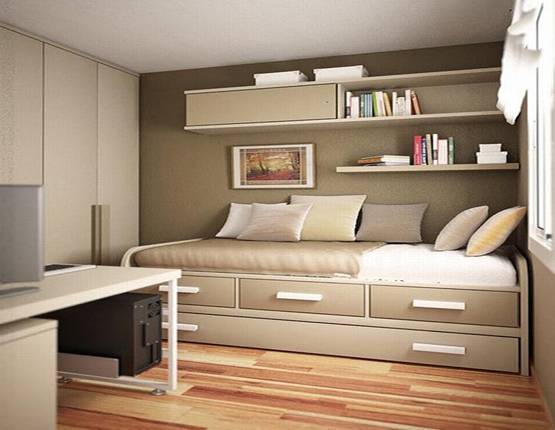 quarto pequeno minimalista