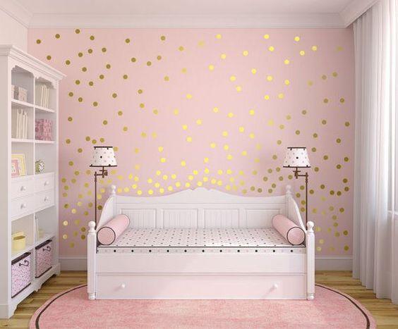 quarto rosa menina simples
