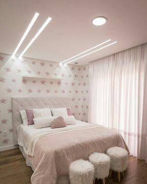 quarto rosa simples