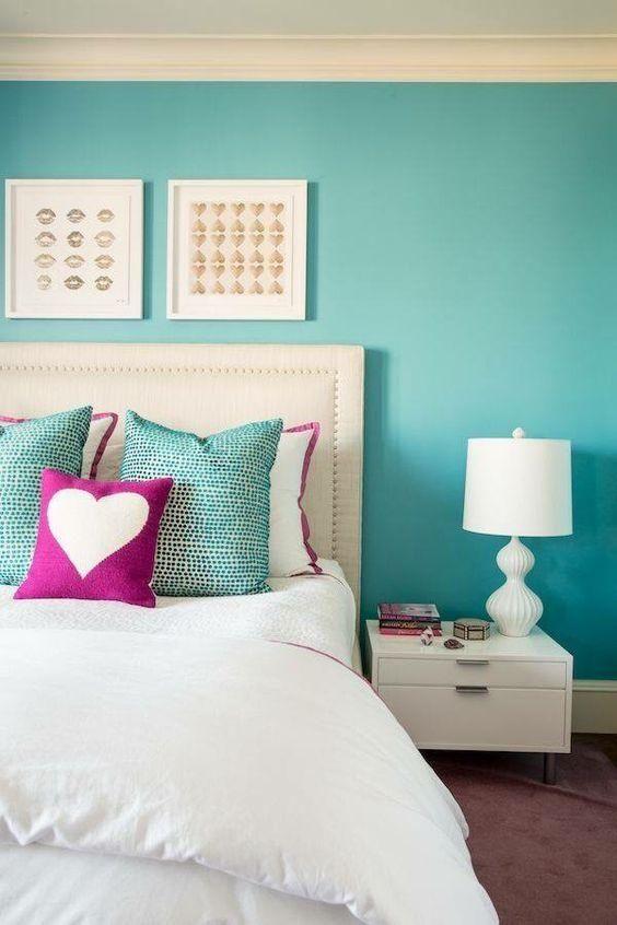 quartos decorados azul turquesa 2