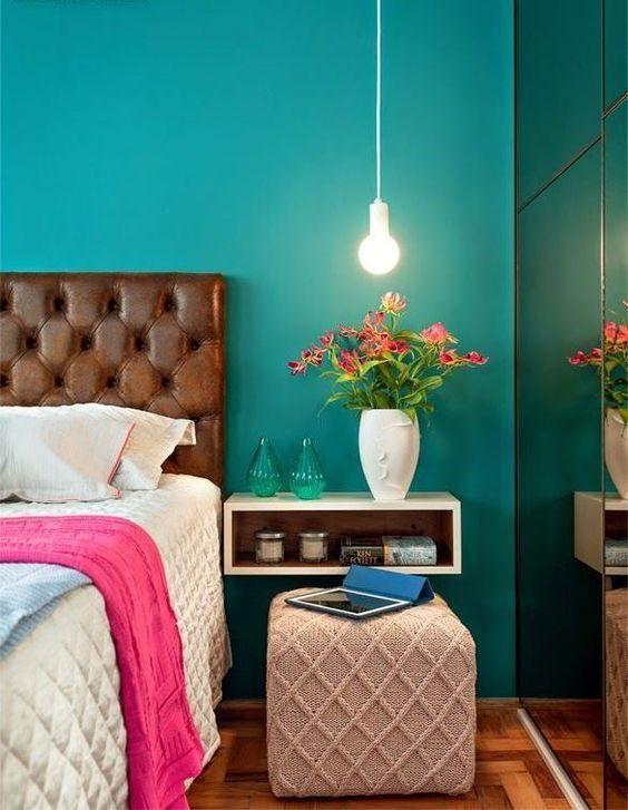 quartos decorados azul turquesa 3