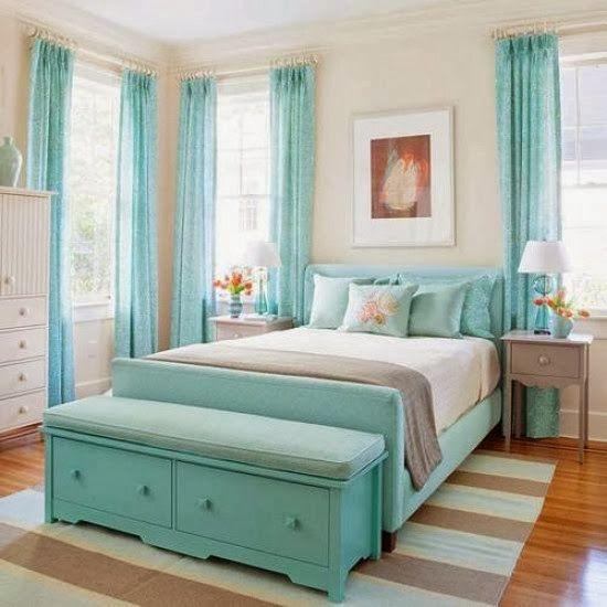 quartos decorados azul turquesa 4