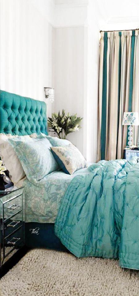 quartos decorados azul turquesa 5