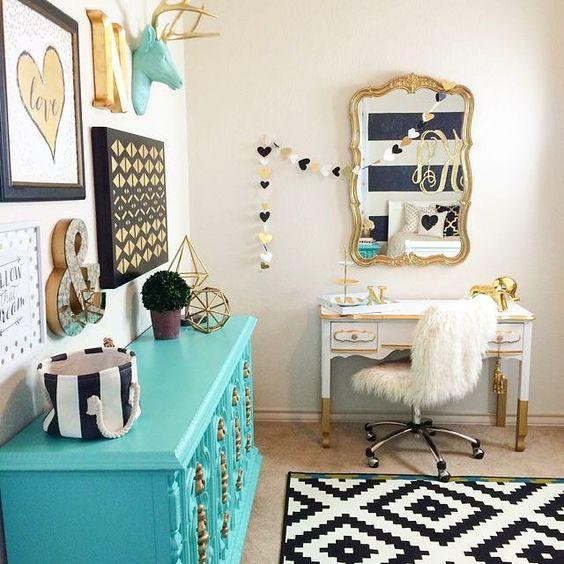 quartos decorados azul turquesa 6