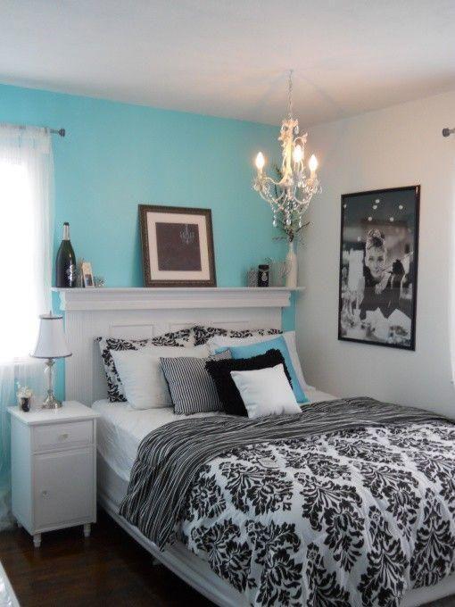 quartos decorados azul turquesa