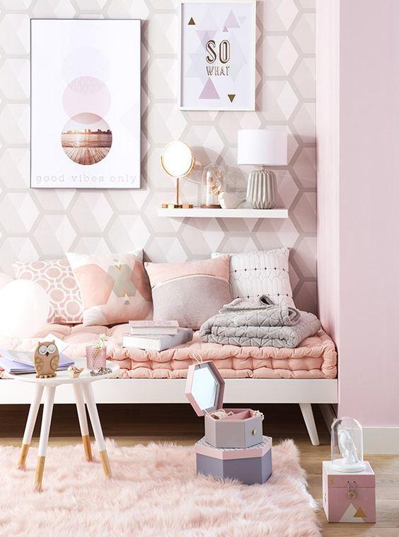 cores para quartos femininos. Black Bedroom Furniture Sets. Home Design Ideas