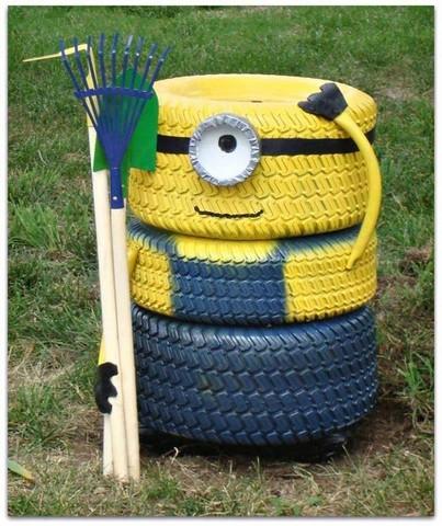 reciclagem de pneus jardim 4