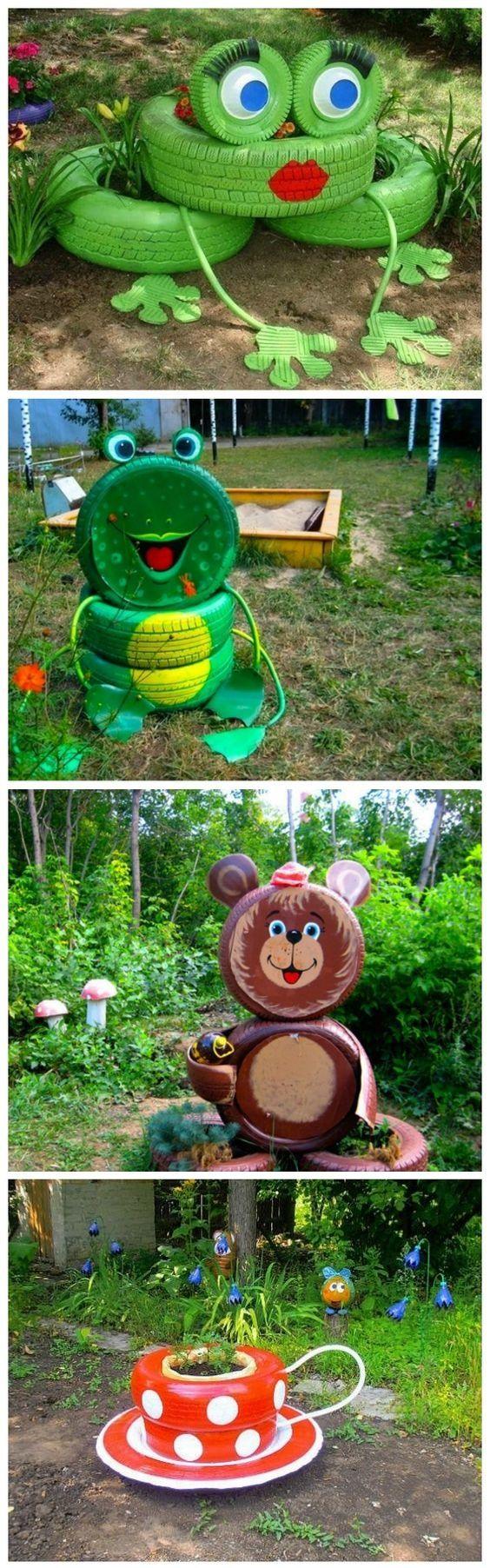 reciclagem de pneus jardim 7