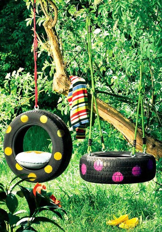 reciclagem de pneus jardim 9