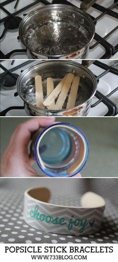 reciclagem palitos sorvete braceletes