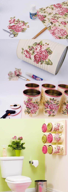 reciclar decorar latas leite 1