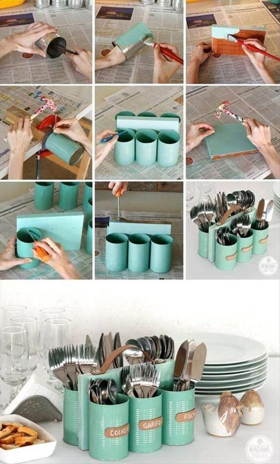 reciclar decorar latas leite 5