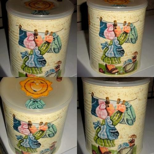 reciclar decorar latas leite 8
