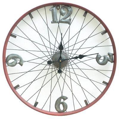 relogio material reciclado roda bicicleta