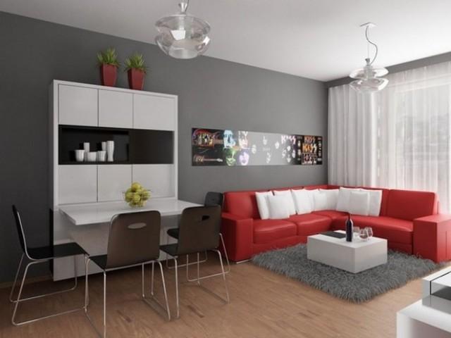 sala com cozinha planejada