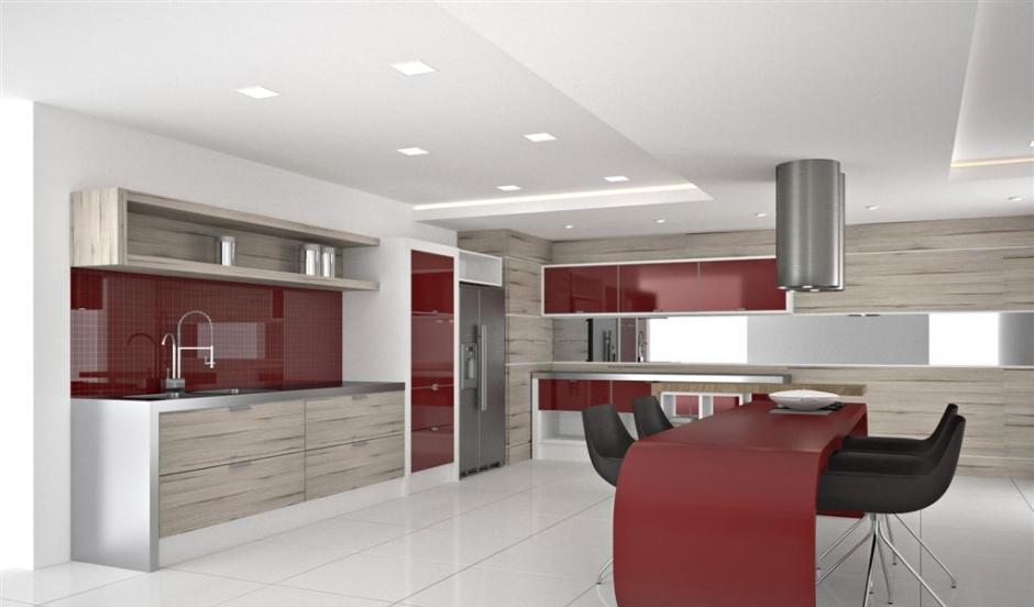 sala planejada com cozinha