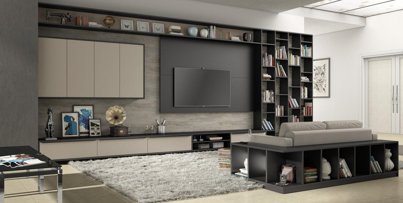 Salas Planejadas -> Sala De Tv E Biblioteca