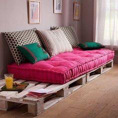 sofas paletes madeira