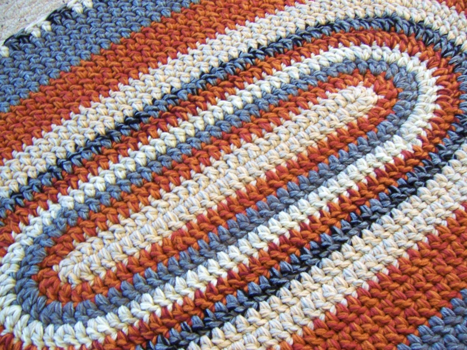 Crochet Oval Rug Pattern Rugs Ideas