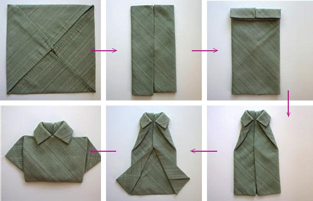 tutorial dobrar guardanapo camisa