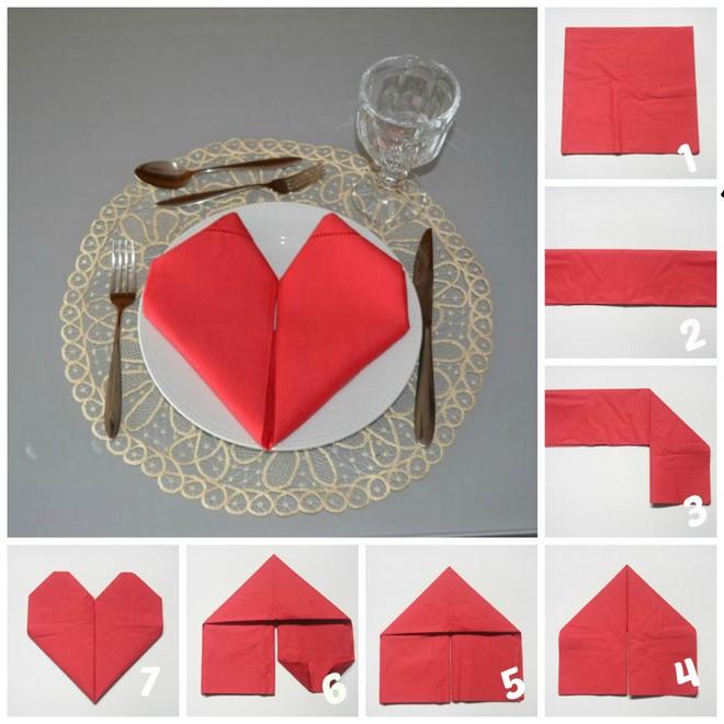 tutorial dobrar guardanapo coracao dia namorados